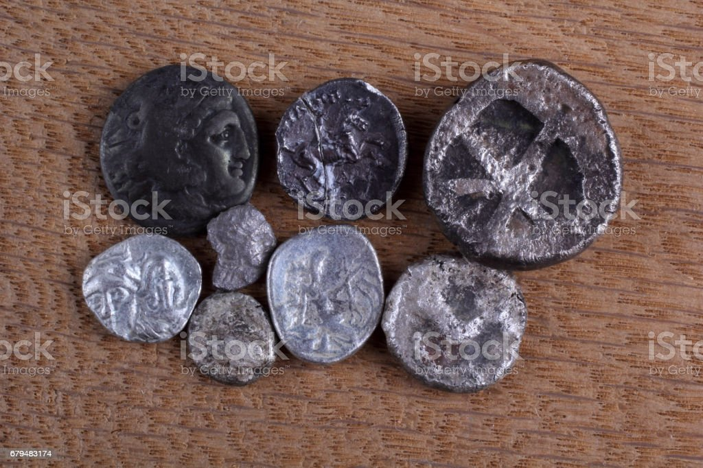 Ancient Greek Coins Stock Photo - Download Image Now - iStock