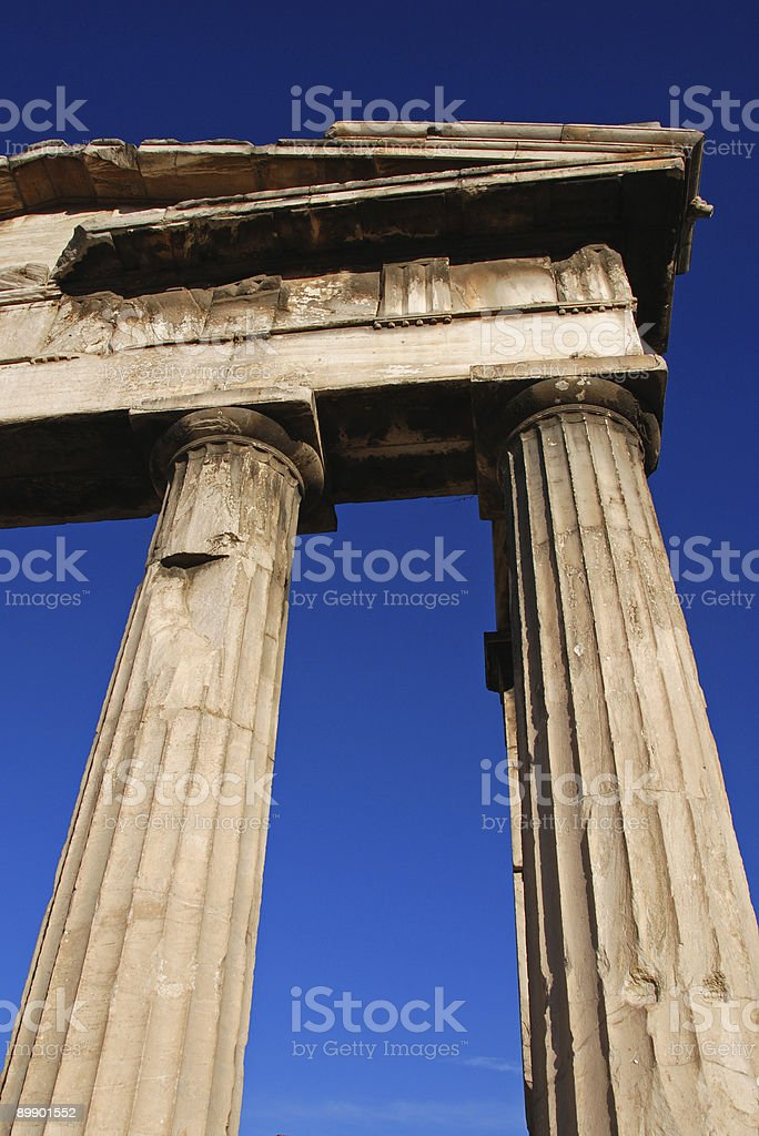 Ancient Greek Columns royalty-free stock photo
