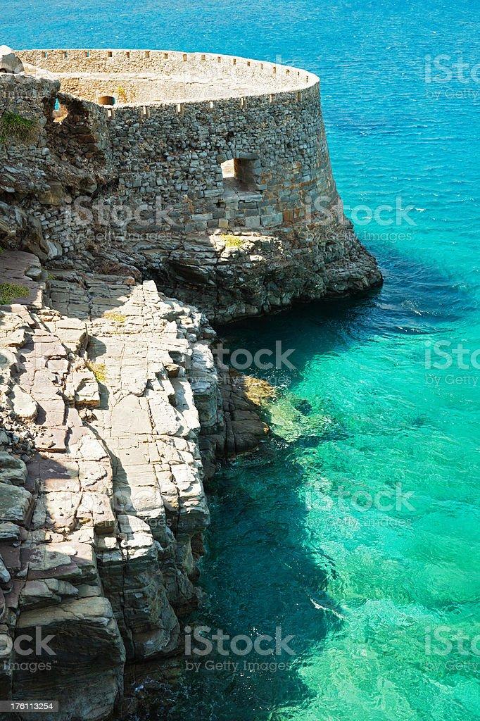 Ancient Greek Fortress at Blue Lagoon royalty-free stock photo