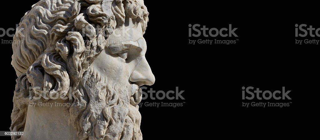 Ancient Greek God stock photo