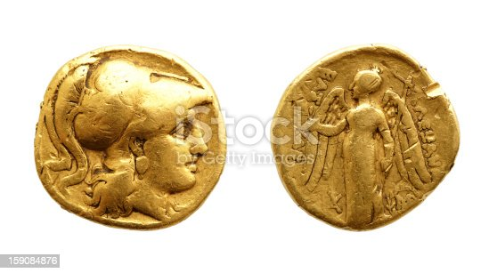 istock Ancient greek gold coin 159084876