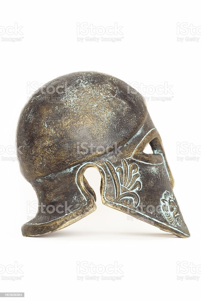 Ancient greek helmet royalty-free stock photo