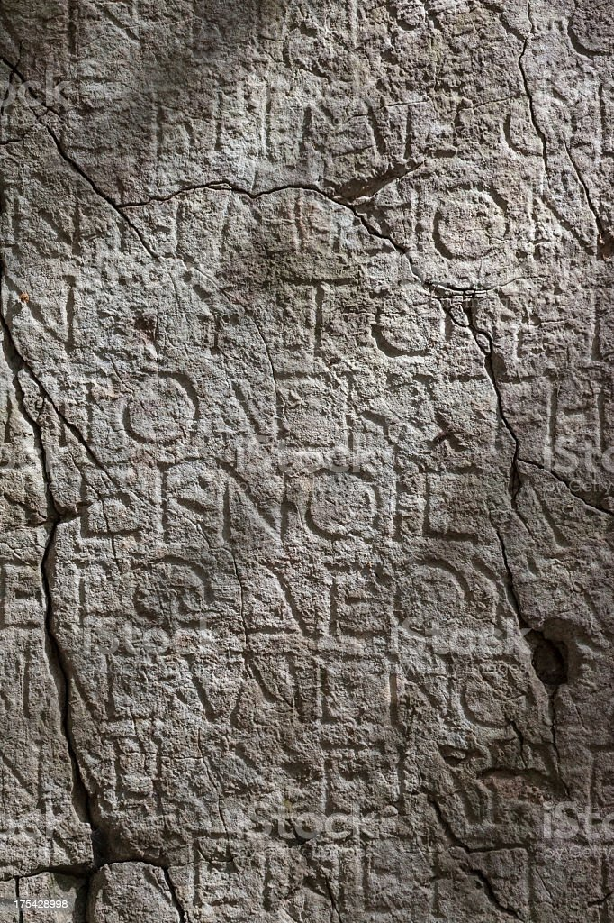 Ancient Greek Inscription royalty-free stock photo