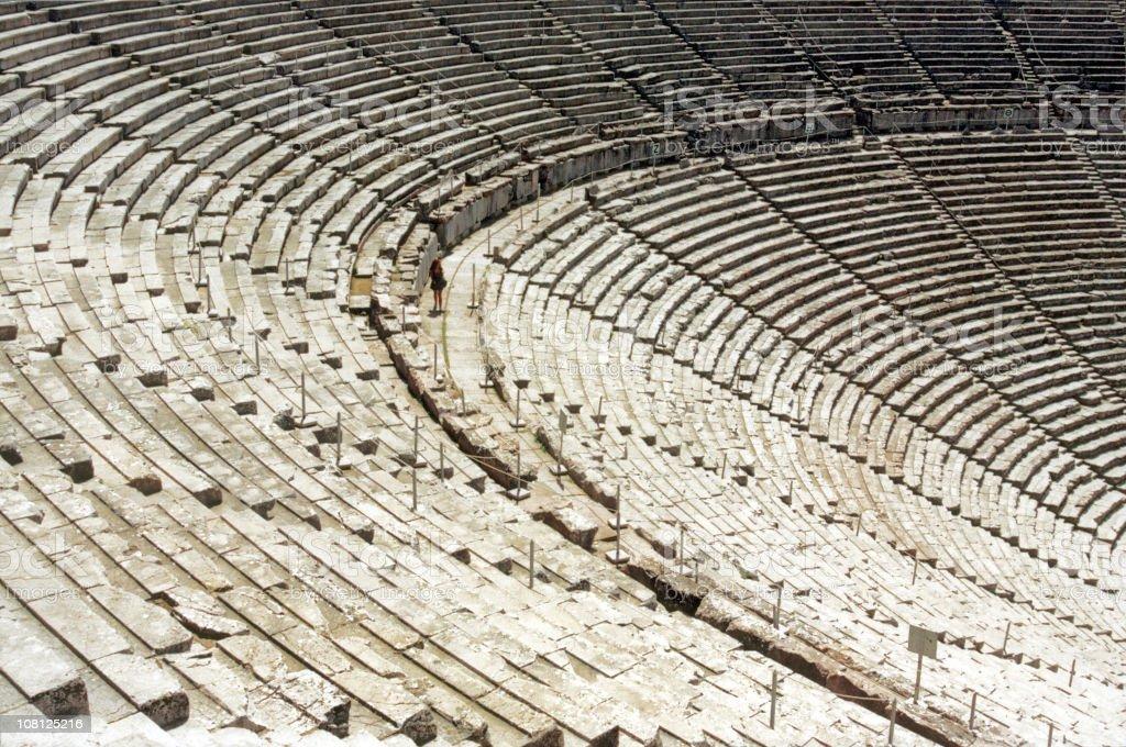 Ancient Greek or Roman Amphitheatre royalty-free stock photo
