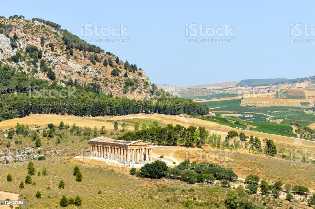 Ancient Greek Ruins in Segesta, Sicily - foto stock