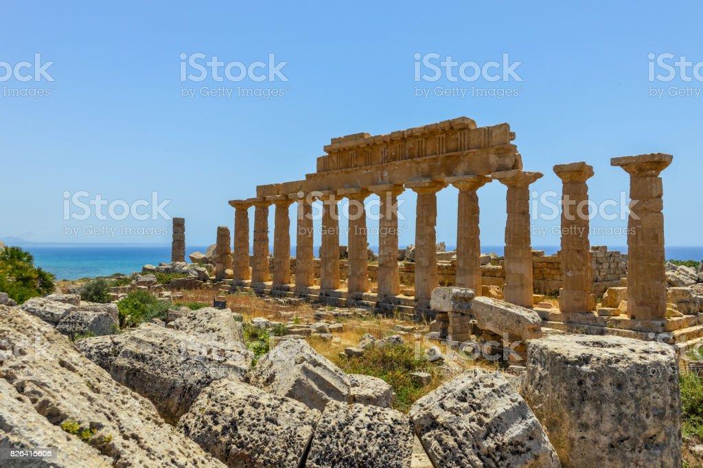 Ancient Greek Ruins in Selinunte, Sicily - foto stock