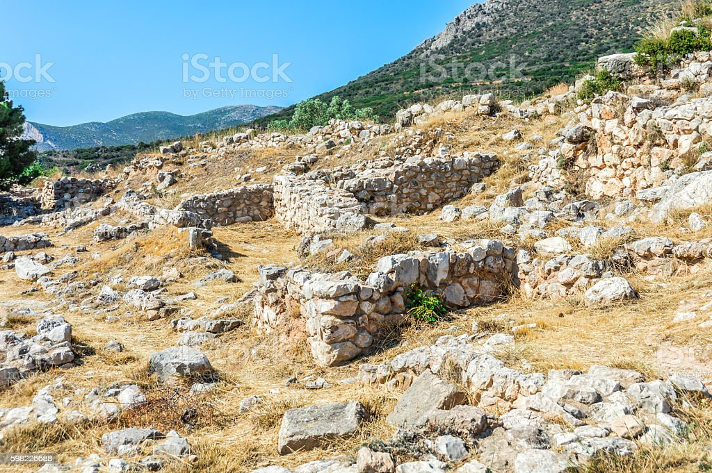 Ancient Greek Ruins - Mycenae foto royalty-free