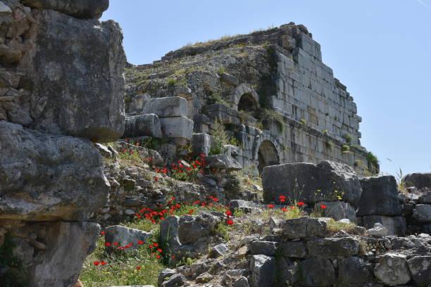 Antike griechische Ruinen von Priene, Türkei – Foto