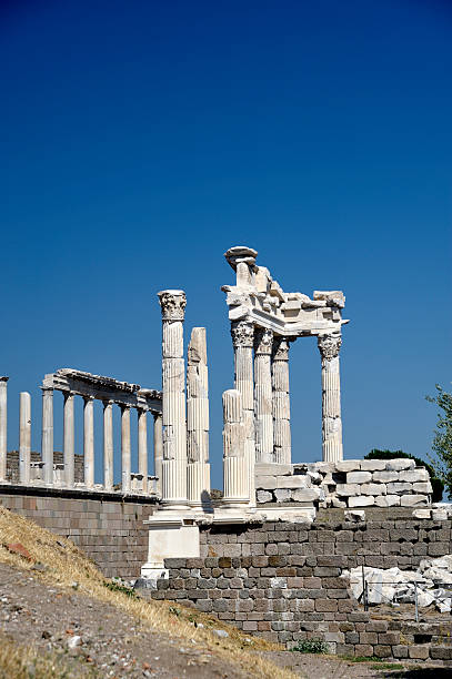 Ancient Greek Ruins Acropolis temple of Trajan Pergamon (Bergama/Izmir) TurkeyPlease see some similar pictures from my portfolio 4th century bc stock pictures, royalty-free photos & images