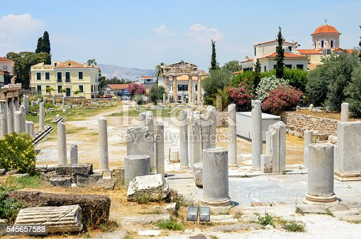 istock Ancient Greek Ruins - The Ancient Agora in Athens, Greece 545657588