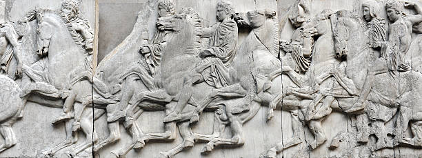 Ancient Greek Sculptures stock photo