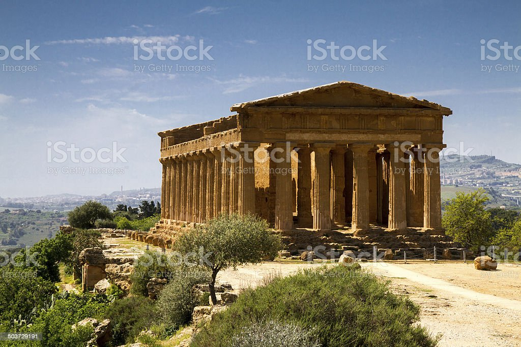 Ancient Greek Temple of Concordia royalty-free stock photo