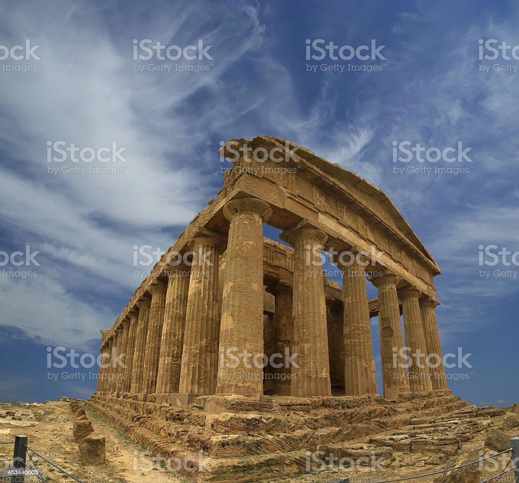 Ancient Greek temple of Concordia (V-VI century BC), Sicily royalty-free stock photo