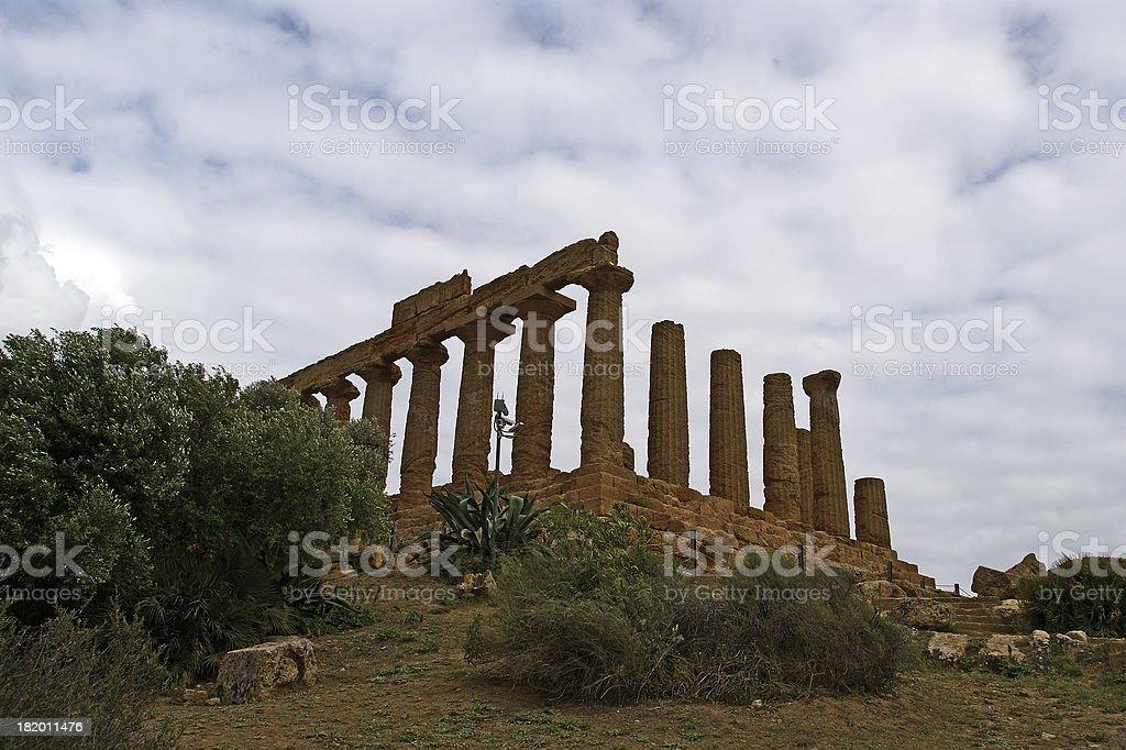 Ancient Greek Temple of Juno (V-VI century BC), Sicily. royalty-free stock photo