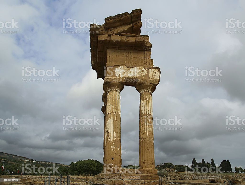 Ancient Greek Temple of the Dioscuri (V-VI century BC) royalty-free stock photo