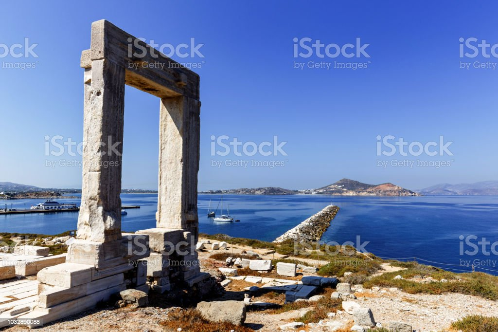 Ancient Greek Temple Ruins stock photo