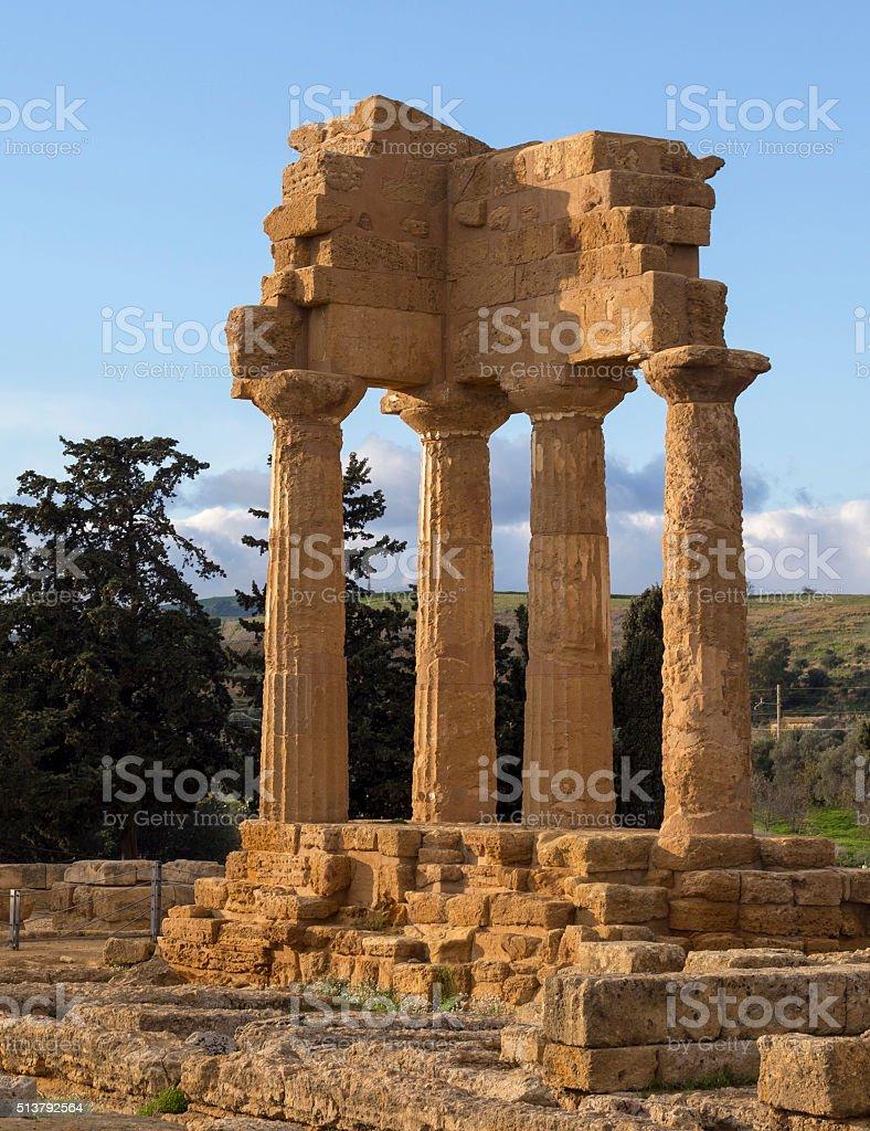 Antico tempio greco, la Valle dei Templi - foto stock