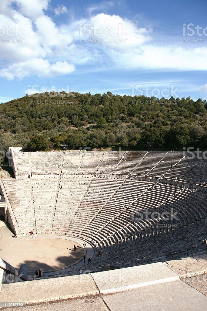 ancient greek theater royalty-free stock photo