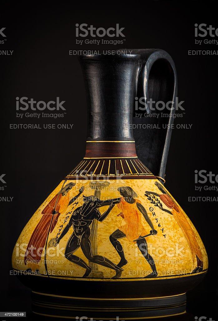 Ancient Greek vase sold as a souvenir in Crete stock photo