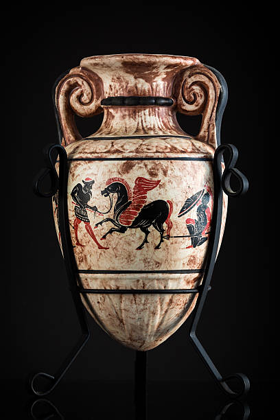 Ancient Greek vase sold as a souvenir in Rhodes stock photo