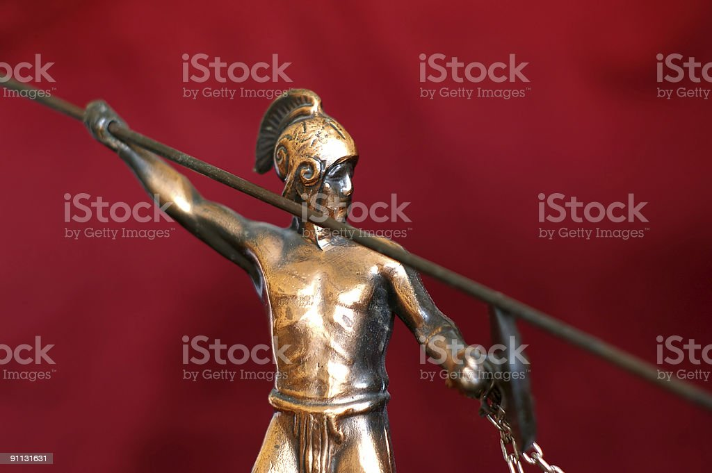 Ancient Greek Warrior royalty-free stock photo