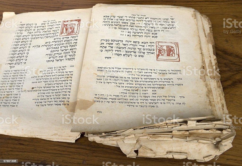 Ancient Hagada for Passover royalty-free stock photo