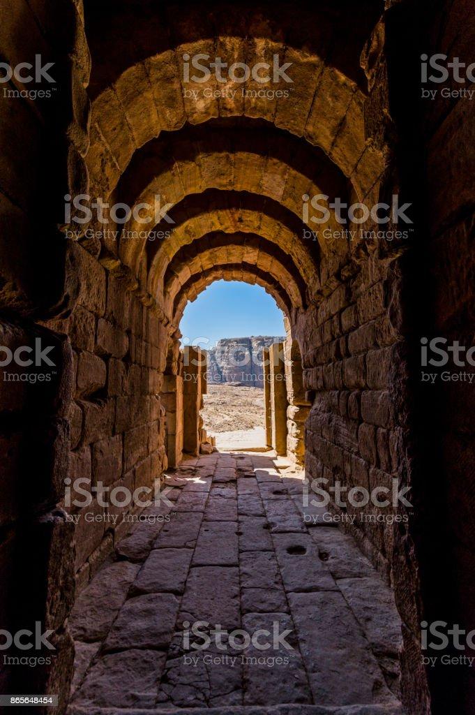 Antik koridor stok fotoğrafı