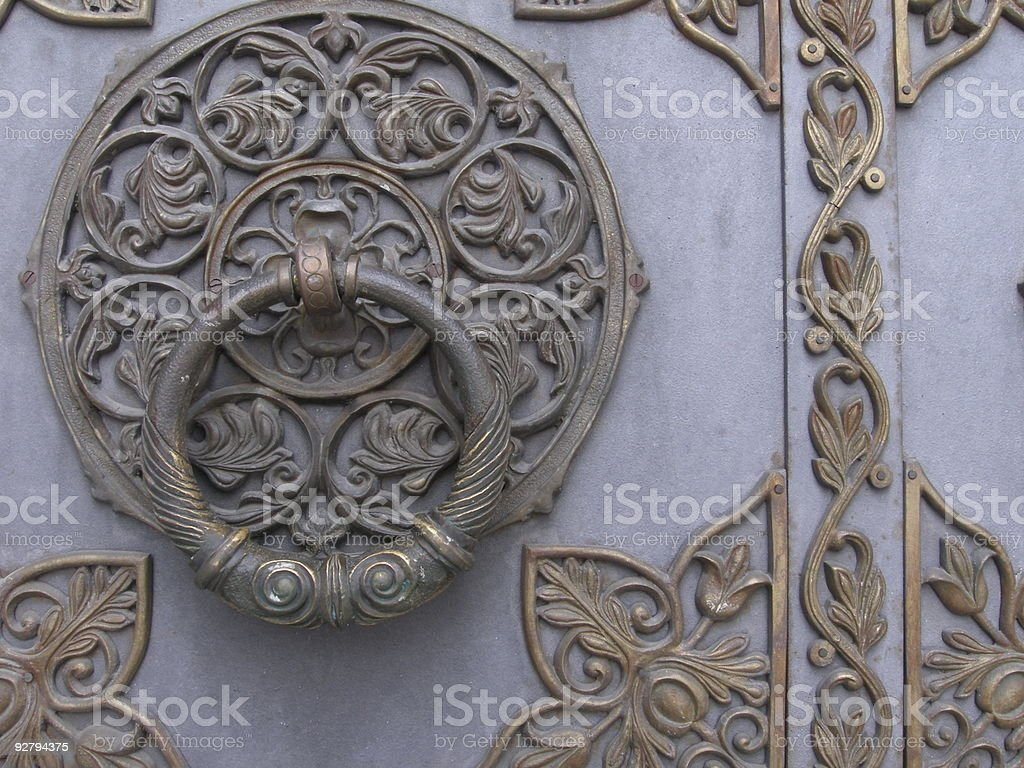 Ancient handle royalty-free stock photo