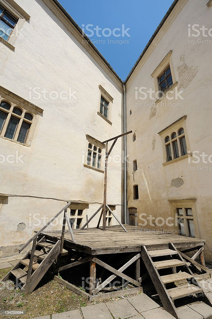 Ancient hanging device stock photo