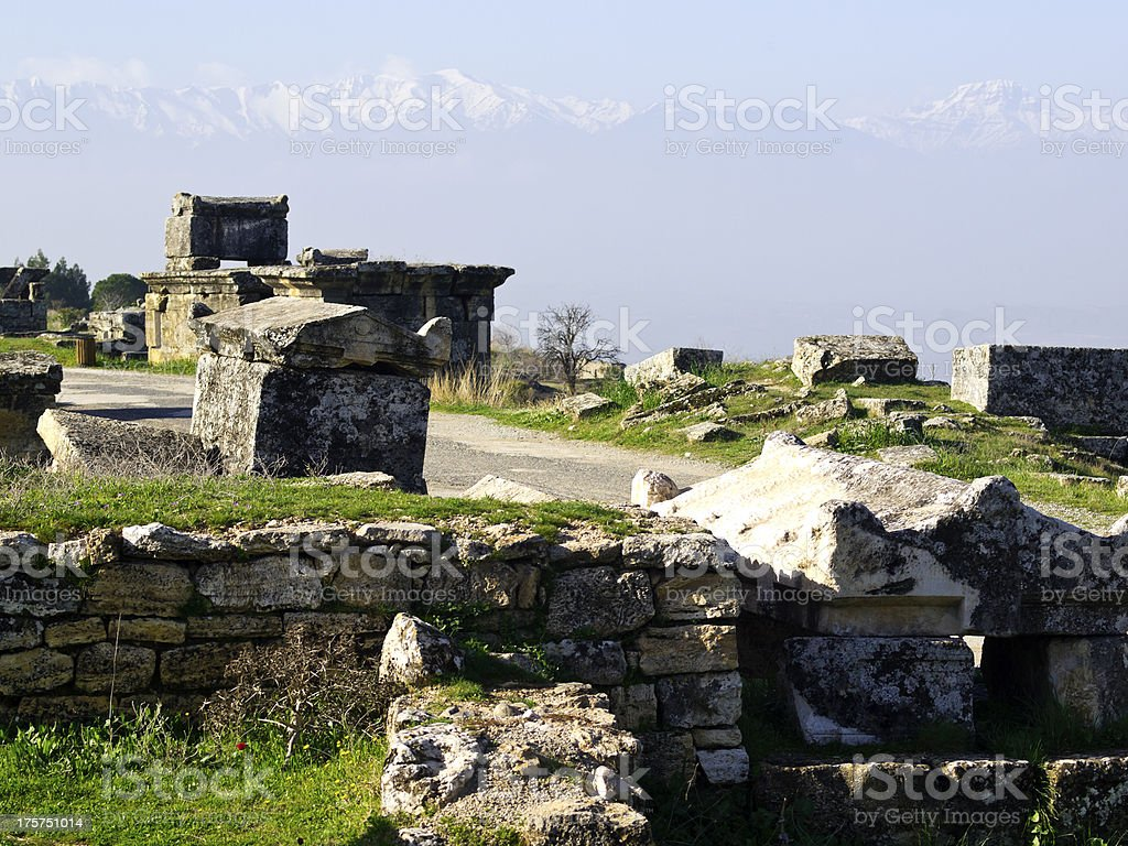Ancient Hierapolis royalty-free stock photo