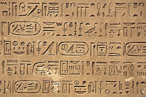 614744994 istock photo Ancient Hieroglyphic Script 614744994