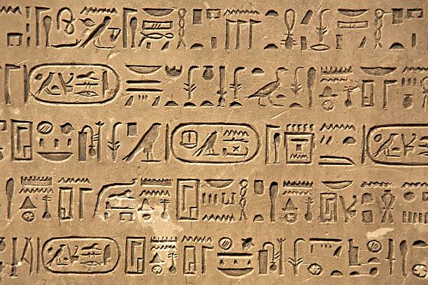 Ancient Hieroglyphic Script stock photo