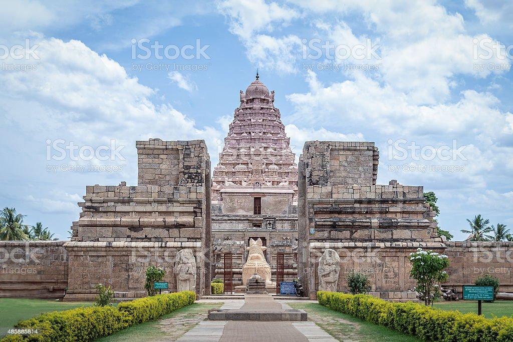 Ancient Hindu temple stock photo