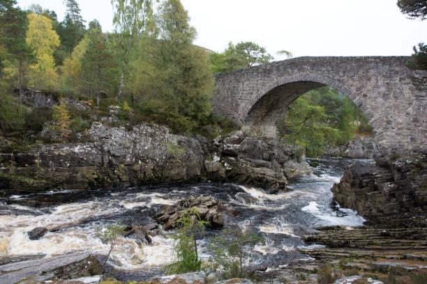 Ancient Historic Bridge at Little Garve stock photo