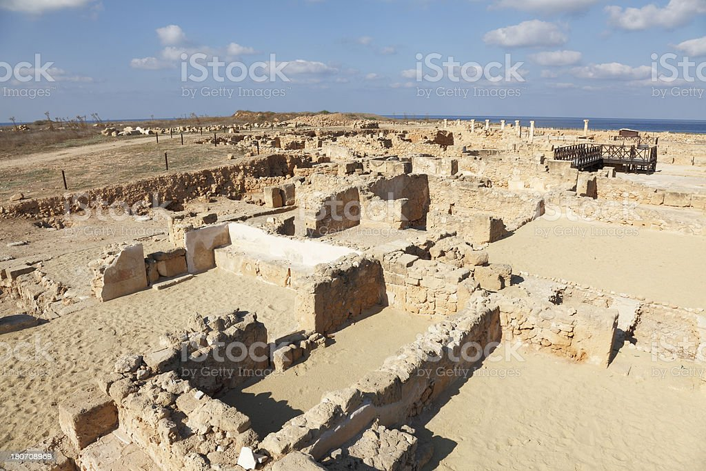 ancient historic Paphos archaeological site Cyprus roman ruins royalty-free stock photo