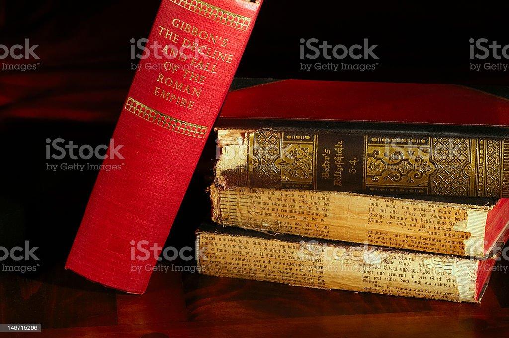 Ancient history tomes royalty-free stock photo