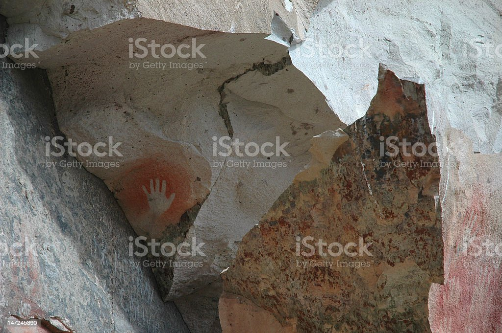 Ancient Human Hand Painting royalty-free stock photo