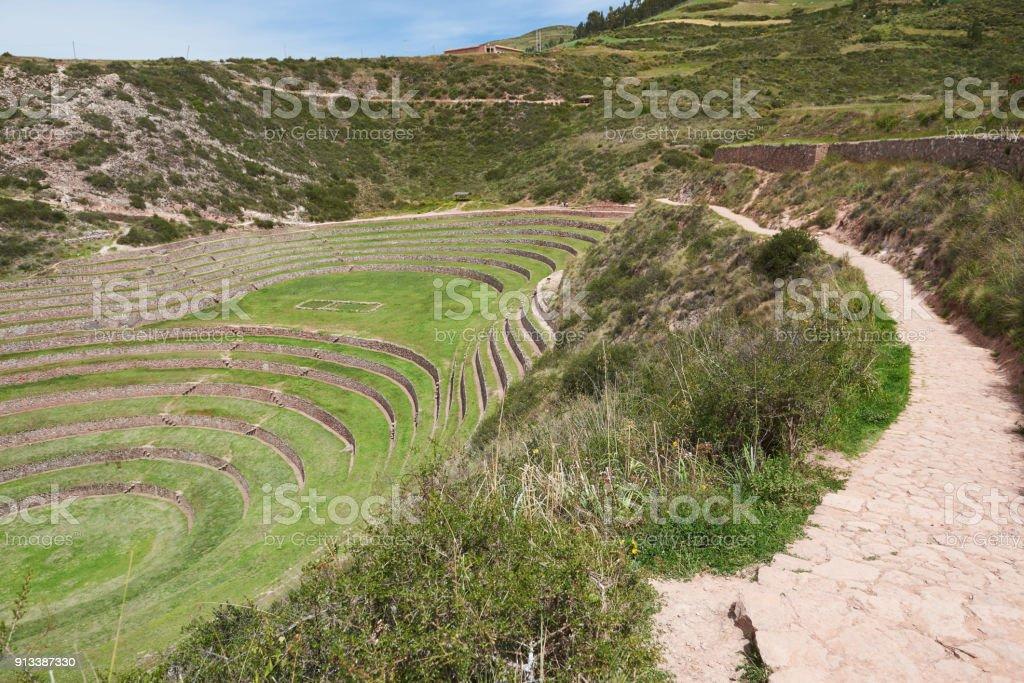 Terrazas Antiguas De Círculo De Inca Foto De Stock Y Más