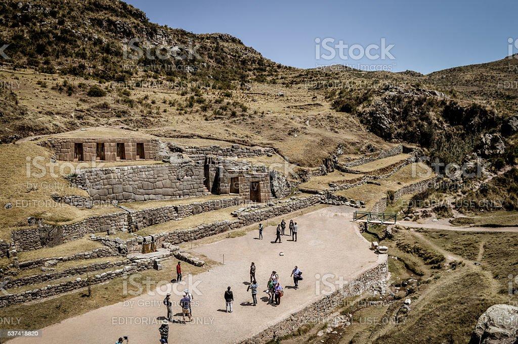Ancient Inca ruins - Tambomachay near Cusco, Peru stock photo