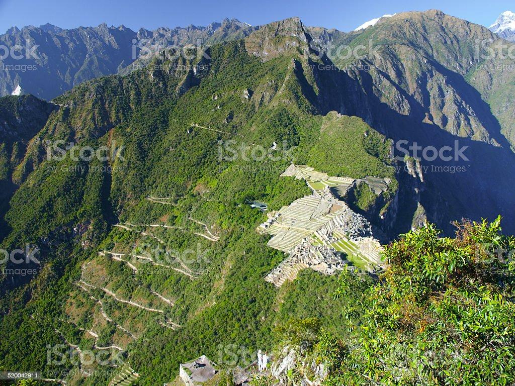 Ancient Incan city of Machu Picchu stock photo