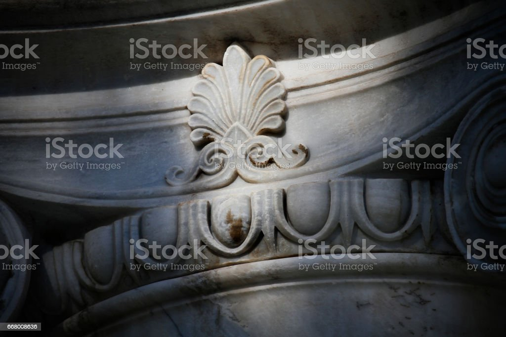 ancient Ionic column stock photo