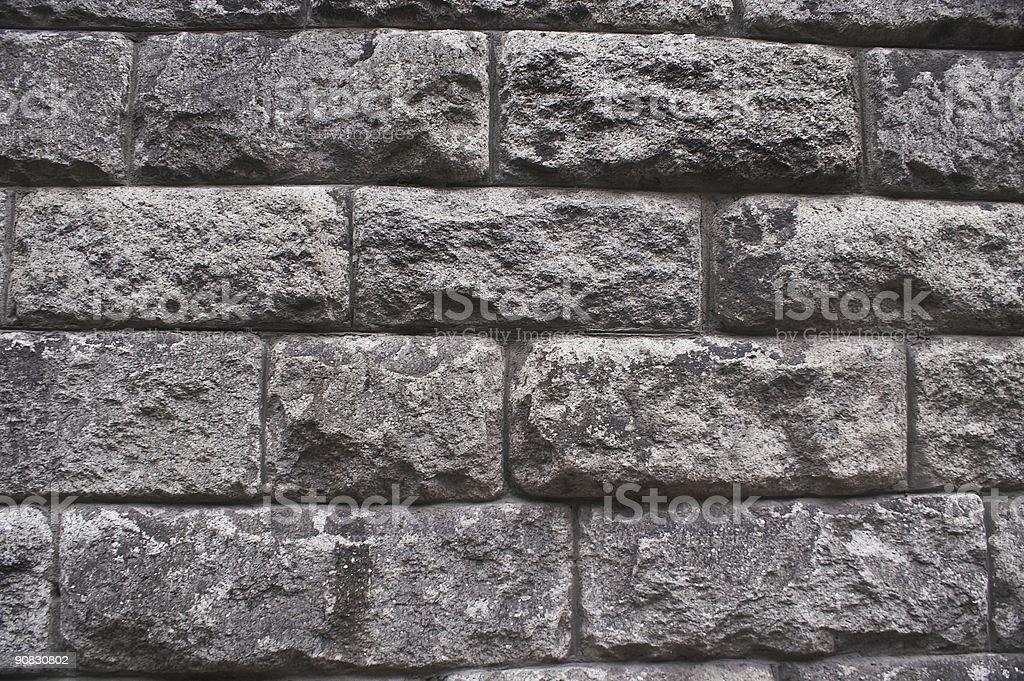 Ancient Irish wall in Dublin royalty-free stock photo