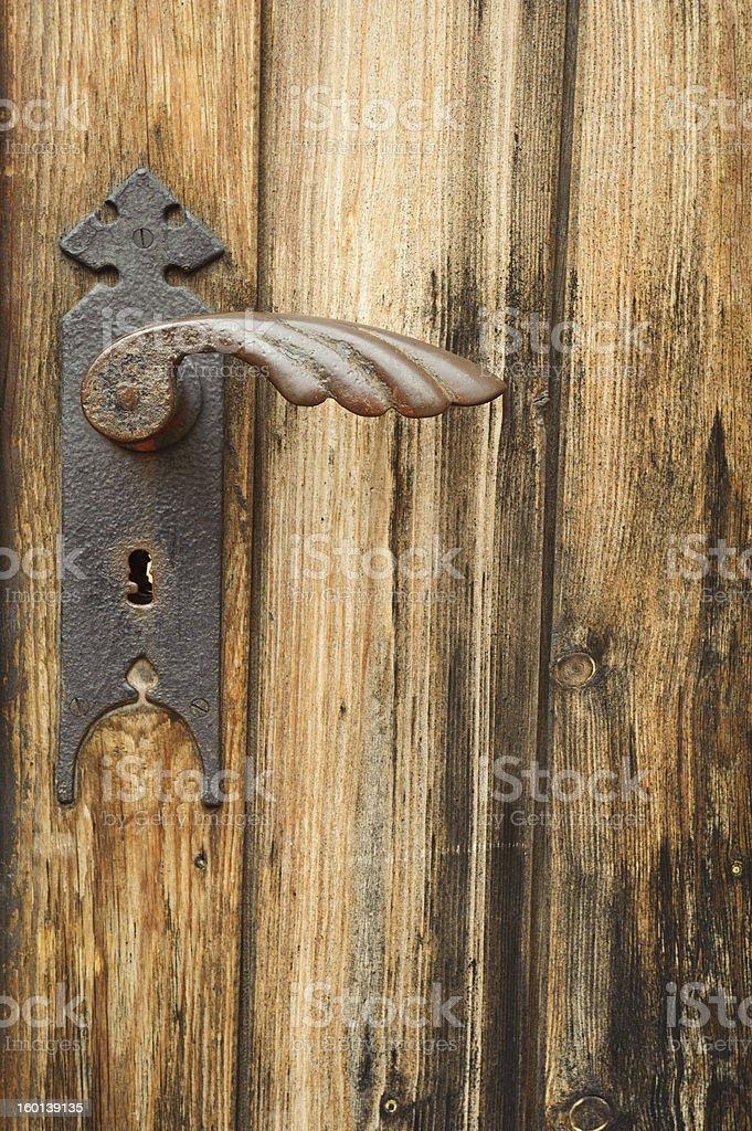 Ancient iron  handle . royalty-free stock photo