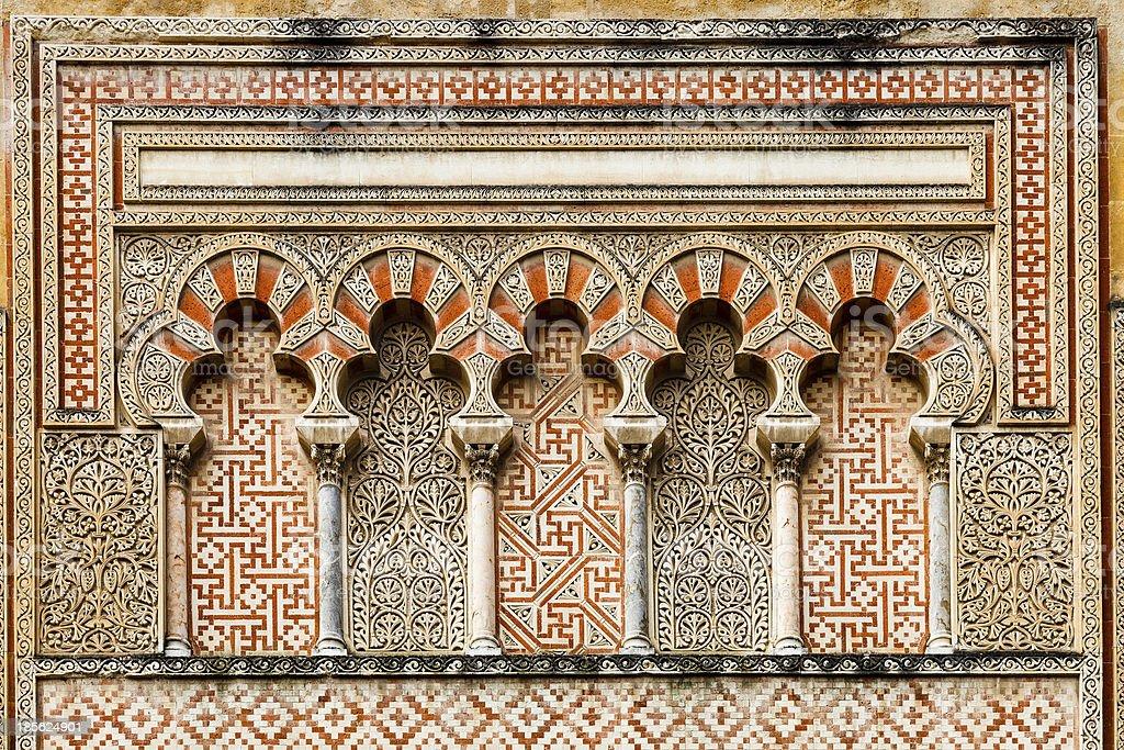Ancient islamic building decoration stock photo