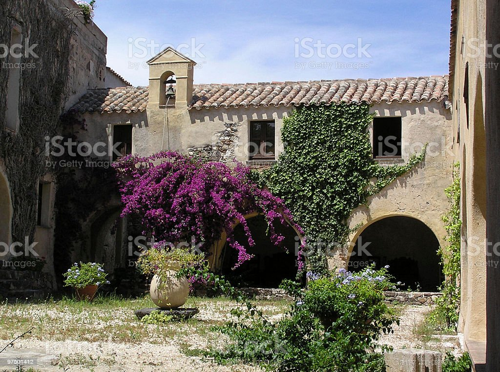 Ancient Italian abbey royalty-free stock photo