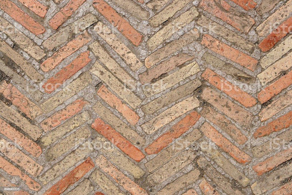 Texture pavimento in mattoni antichi italiano fotografie stock e