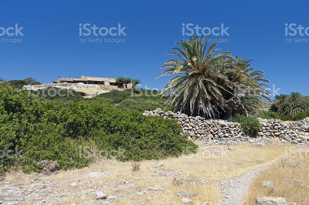 Ancient Itanos area, Crete island, Greece royalty-free stock photo