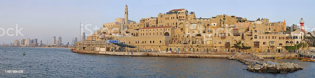 Ancient Jaffa Port stock photo