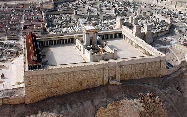 ancient jerusalem and second temple - tapınak stok fotoğraflar ve resimler