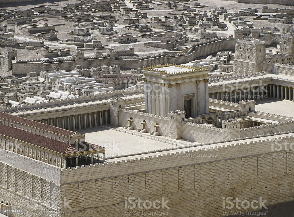 ancient Jerusalem in  period of the second temple. stock photo